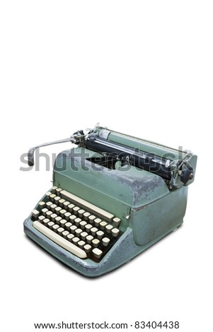 Old type device isolated on white background with clipping path