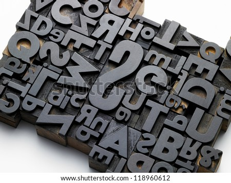 old typefaces in oblique composition