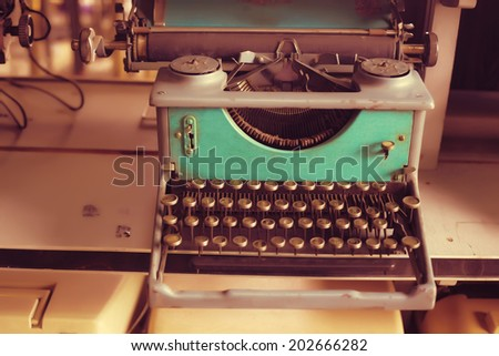 Old typewriter #202666282