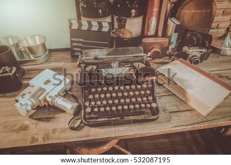 old typewriter vintage...