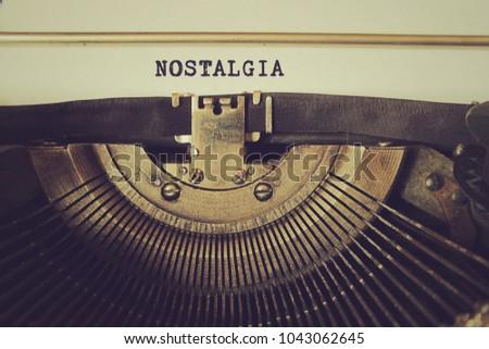 Old typewriter writes word