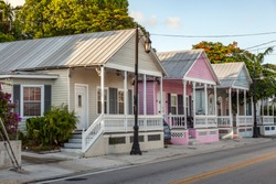 old typical wooden  buildings in Key Biscane, USA