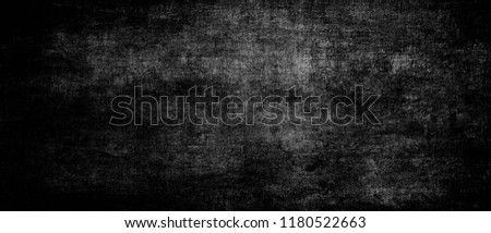 Old Ultrawide Grunge Seamless Black And White Texture. Old Ultrawide Grunge Seamless Black And White Texture. Dark Weathered Overlay Pattern Sample. Widescreen Background Dark Weathered Overlay Patter #1180522663