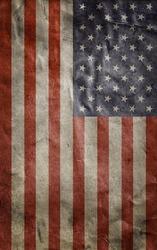 Old Usa flag. Grunge background. Mobile wallpaper