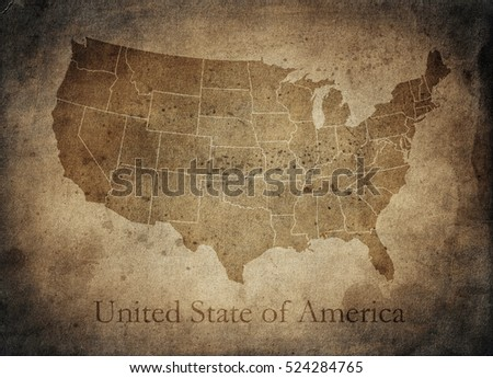 Old Usa map #524284765