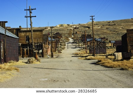 old usa western gold ghost mining town