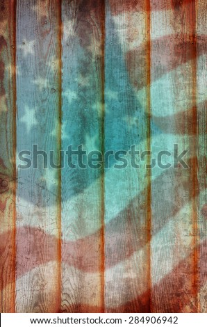 Old used barn wood background in American vintage style