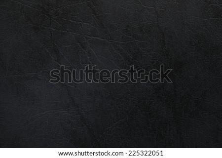 Old used black leather texture