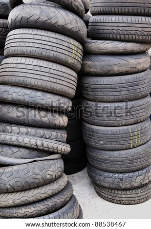 Old used tires.
