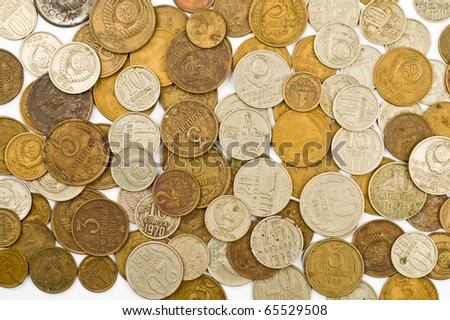 old USSR coin background