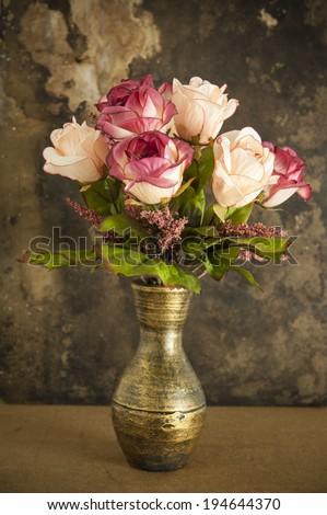 Old vase and flower #194644370