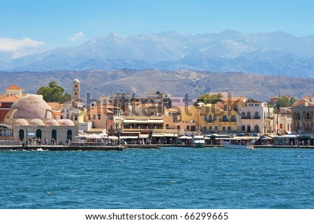 Old Venetian harbour in Chania. Crete, Greece