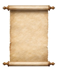 old vertical paper scroll isolated