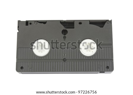 old vhs video the upper part of a cassette