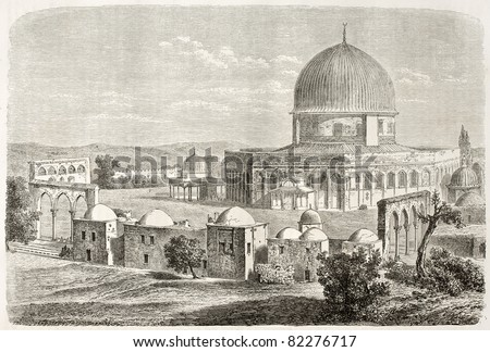 old view of al aqsa mosquee ...