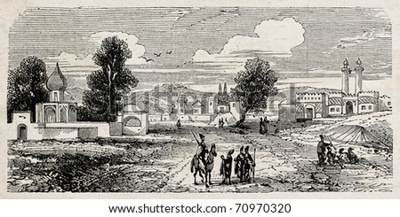 old view of government gate in...