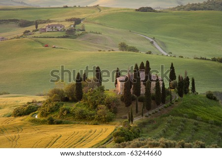 Old Villa view in Tuscany, Italy