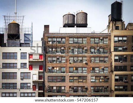 old vintage apartment buildings ...