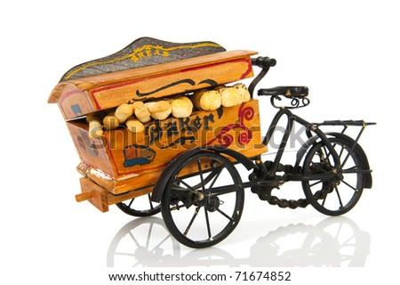 Old vintage bakery car for bread transport