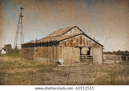 old vintage barn with muted...