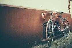 old vintage bike on the street