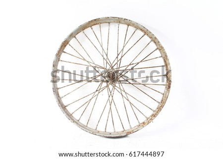 old vintage bike wheel #617444897