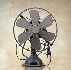 Old vintage brass electric fan