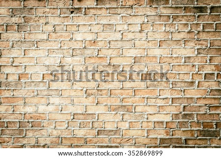 Old vintage brick wall textures background - vintage filter