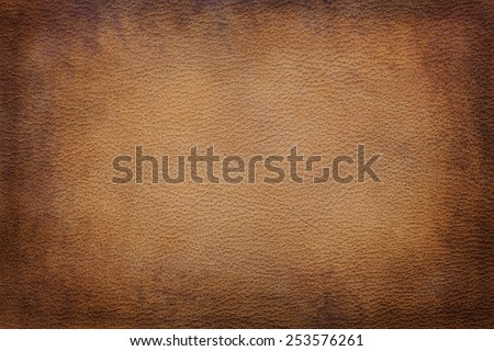 Old vintage brown leather texture closeup can be used as background