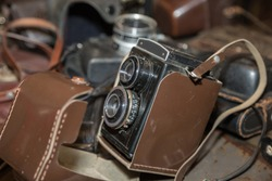 Old Vintage Camera for Lomography image Style.