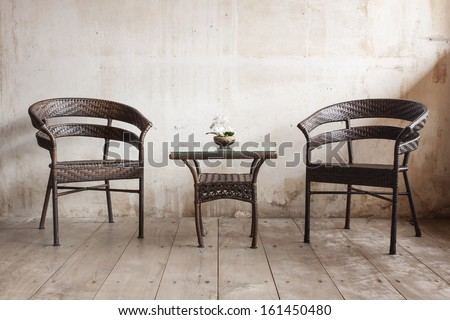 Old Vintage Chair And Table