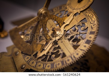 Old Vintage Clock Machine Cog