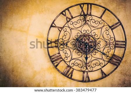 Old vintage clock - Vintage filter #383479477