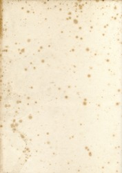 Old vintage early19th century textured paper with mildew foxing background