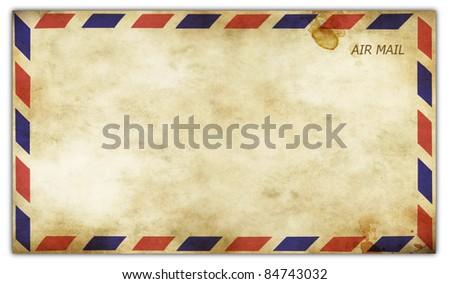 Old vintage envelope front side