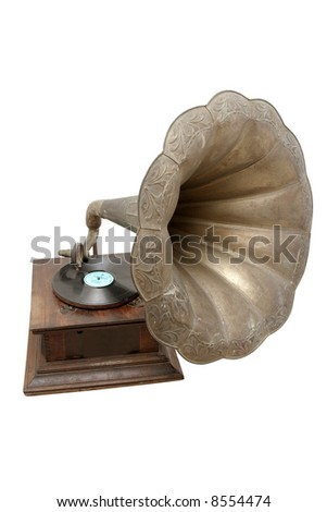 Old vintage gramophone retro-styled, entertainment, old-fashioned