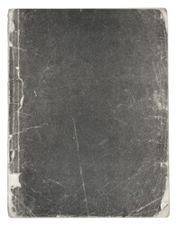 Old vintage grey book isolated on white background