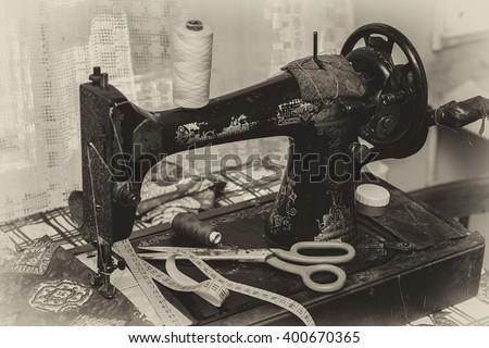 old vintage hand sewing machine....