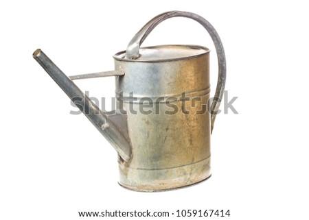 old vintage metal watering can...