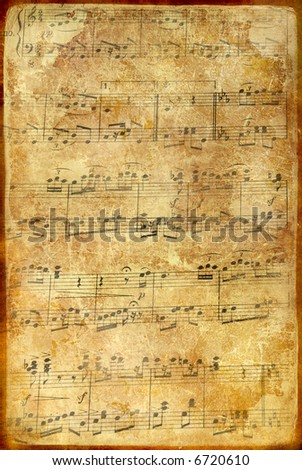 old vintage musical page