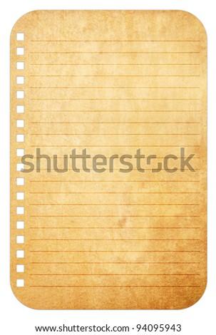 Old vintage paper notes background