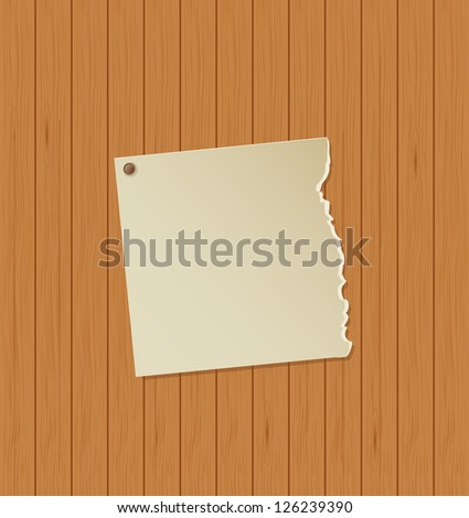old vintage paper on wooden background. raster version, vector file also available in gallery