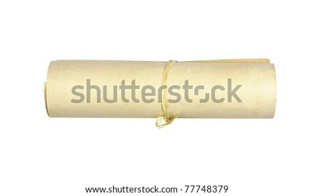 Old vintage paper roll - stock photo