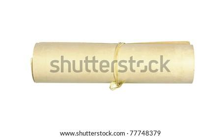 Old vintage paper roll