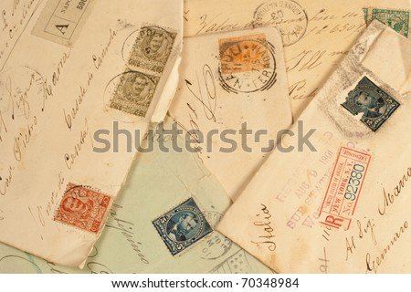 old vintage personal handwritten letter