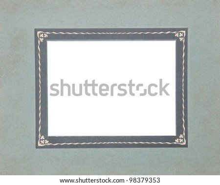 old, vintage photo frame