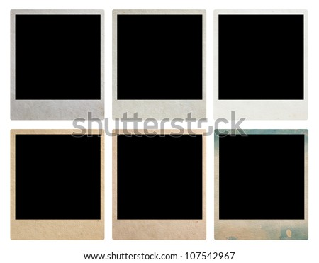 Old Vintage Photo Frames, isolated on white background (Save Paths For design work)