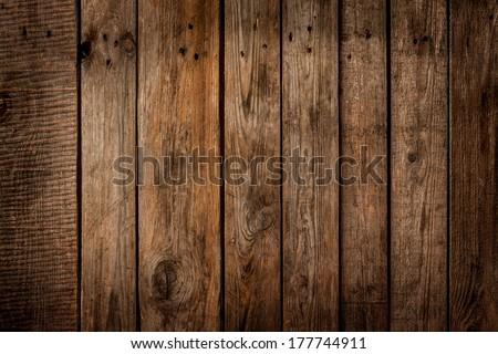 Old Vintage Planked Wood Board - Rustic Or Rural Background With Free Text Space