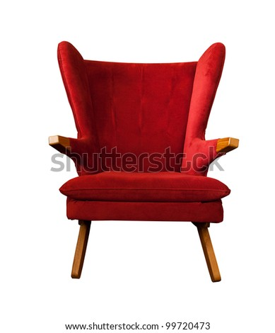 Old vintage red chair