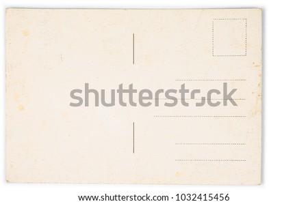 Old vintage retro postcard on the white background #1032415456